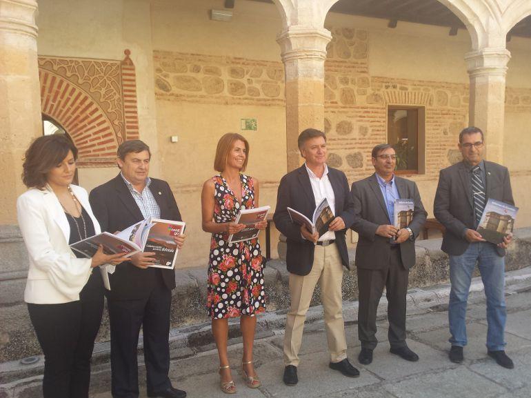 Equipo de Gobierno de la Diputación Provincial de Segovia, con el presidente, Francisco Vázquez, en el centro de la imagen