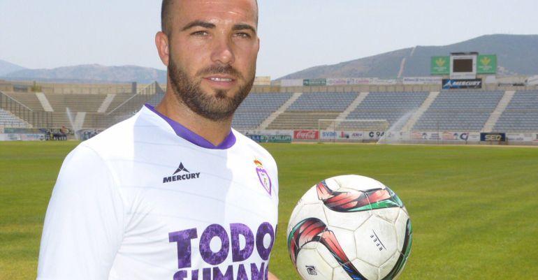 Cervera, con la camiseta del Real Jaén.