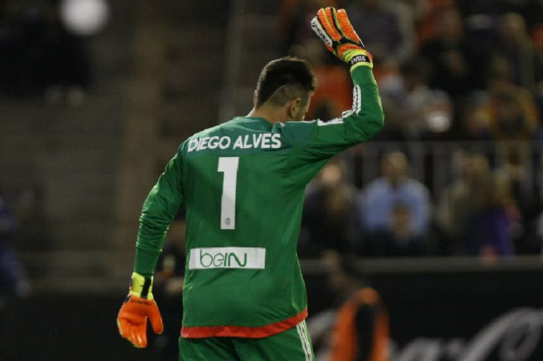 Diego Alves se despide de Mestalla