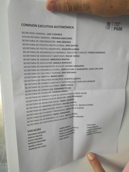 La lista de cargos de la nueva ejecutiva liderada por Tudanca