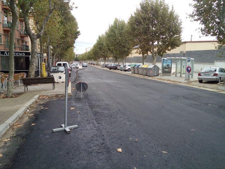 Las obras en la Avenida de la Constitución vuelven a hacer necesario el corte de tráfico en esta calle.