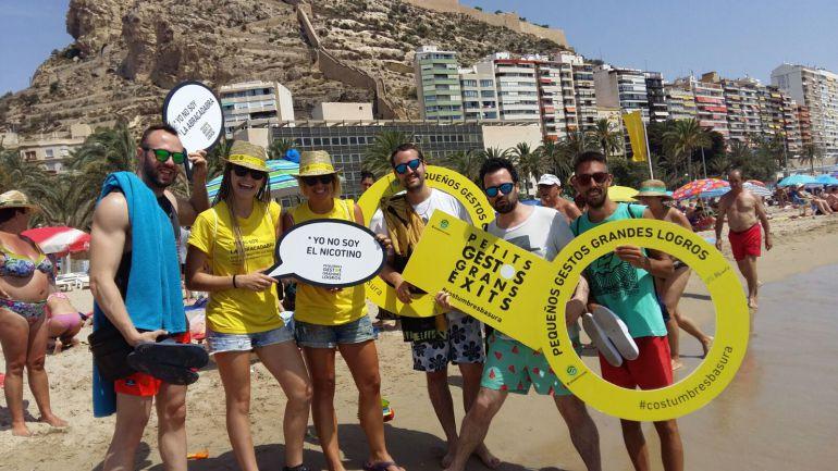 Presentación de la campaña de concienciación en las playas de Alicante