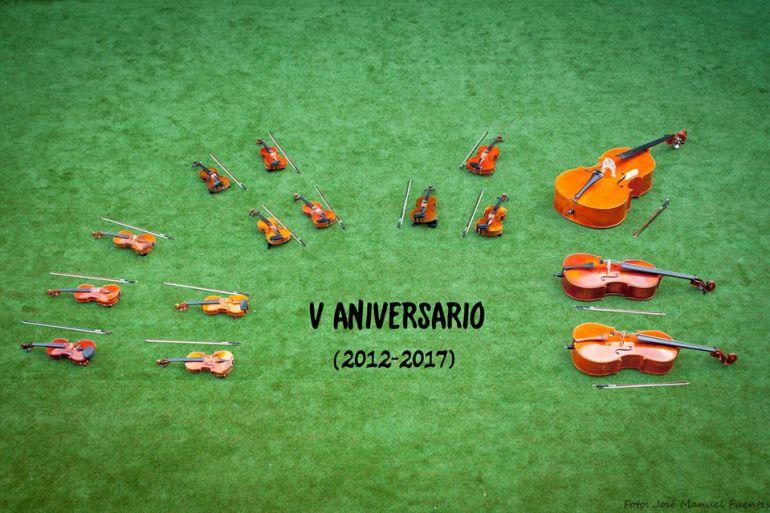 Cartel quinto aniversario La Camerata Clásica de Ponferrada