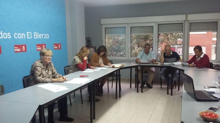 Rita Prada en un encuentro de la permanente socialista en Ponferrada