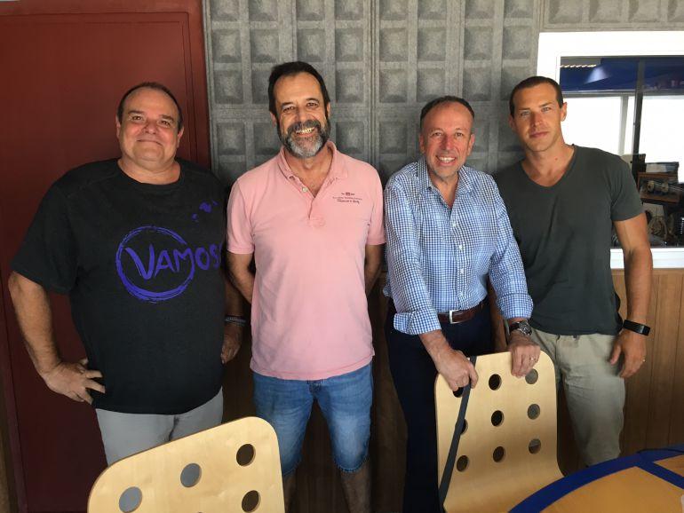 Aitor Morrás, Joan Pantaleoni, Joan Serra y Simón Planells