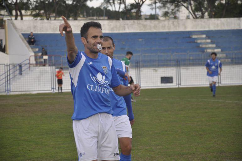 Pedro Carrión celebra un gol en La Juventud