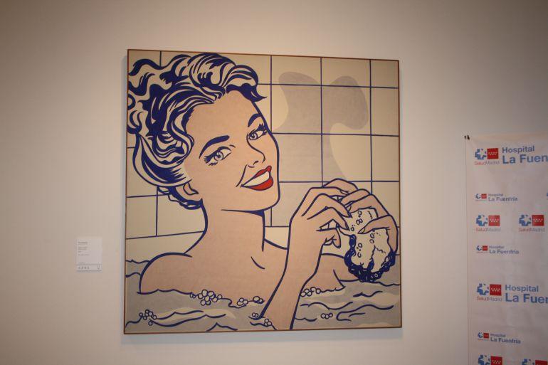 Mujer en el baño, de Roy Lichtenstein, es una de las obras seleccionadas para 'Arte que sana el alma'.