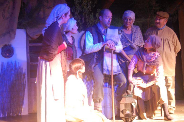 Momento de una de las representaciones de la Muestra de Teatro en La Seca