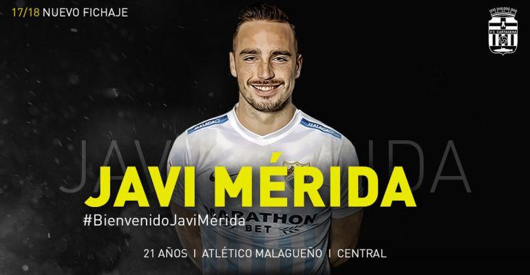 El FC Cartagena firma al central Javi Mérida