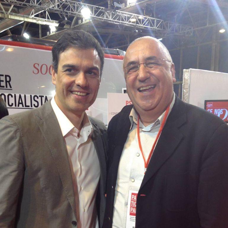 Agustín Martínez con Pedro Sánchez