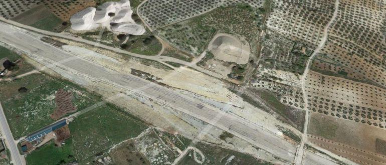 Vista aérea de las obras en la A32