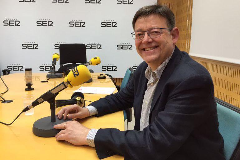 El secretario general de los socialistas valencianos en una foto de archivo en los estudios de la Cadena SER