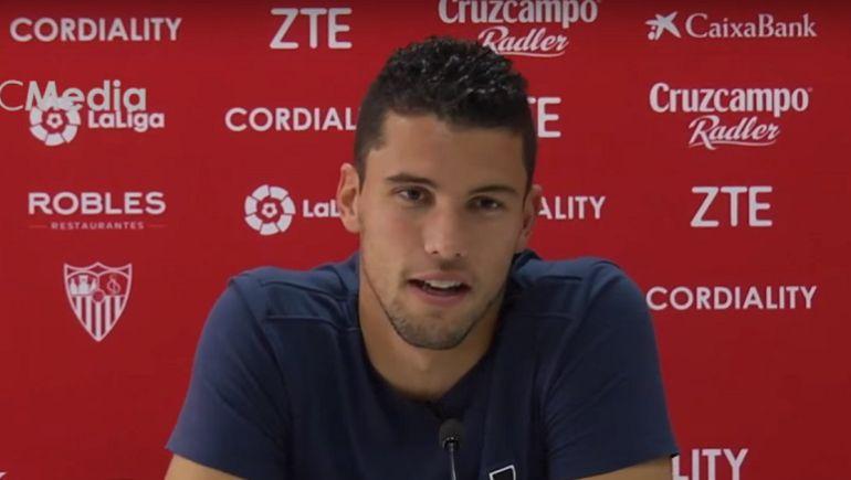 David Soria con el Sevilla