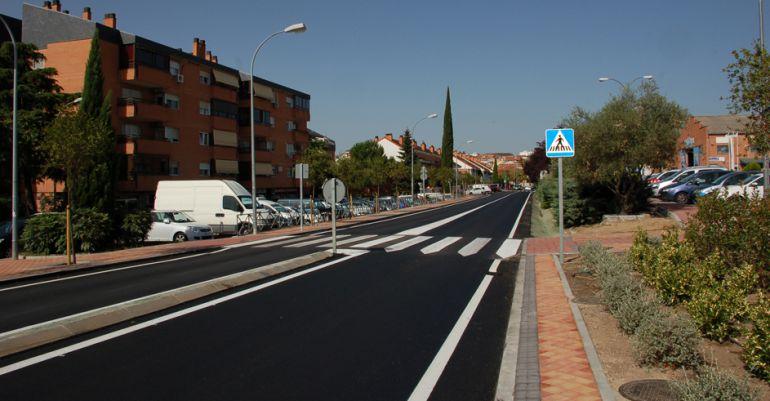 Obras finalizadas en la avenida de San Agustín de Guadalix en Colmenar Viejo
