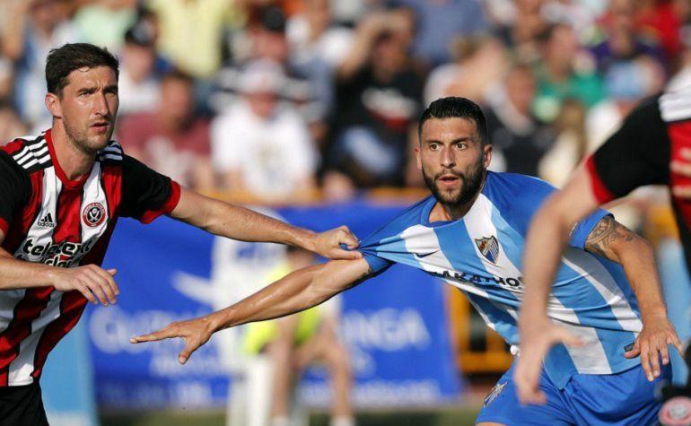 El Málaga jugó contra el Sheffield United en Coín: Las pistas que dejó el Málaga en su primer amistoso