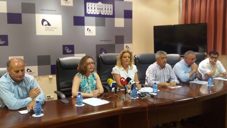 Los seis diputados que han presentado su baja en el PP de Soria.