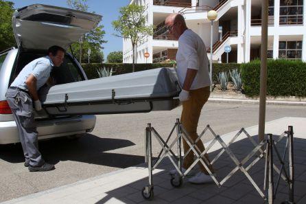 El cuerpo de Miguel Blesa a su llegada al Instituto de Medicina Legal de Córdoba