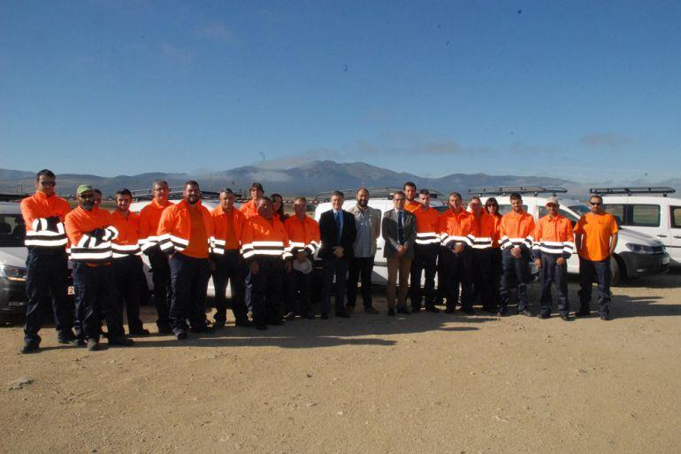 Personal contratado para labores de prevención de incendios en la provincia
