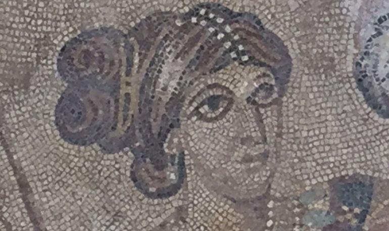 Detalle del mosaico romano de Noheda, en Cuenca.