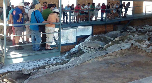 Parte del mosaico de Noheda se ha mostrado al público este 22 de julio.