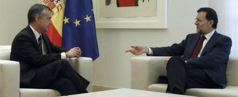 Reunión Urkullu y Rajoy en Moncloa en enero pasado