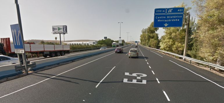 Autovía A4 a su paso por Córdoba