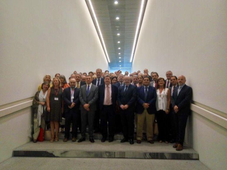 Los directores de los diferentes centros del Instituto Cervantes, reunidos en el Centro Pompidou de Málaga