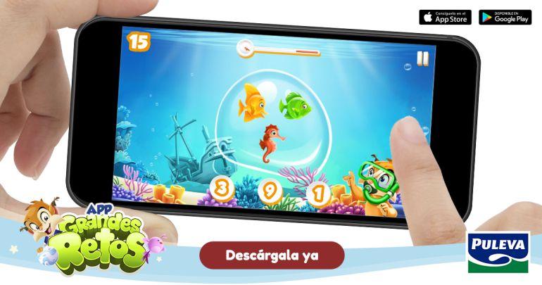 """Imagen de la """"app"""" educativa de Puleva destinada a los más pequeños"""