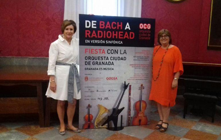 Presentación en el Ayuntamiento de Granada del concierto popular de septiembre de la OCG