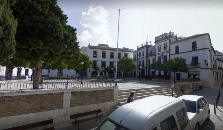 Imagen del Ayuntamiento de Estepa en la Plaza del Carmen
