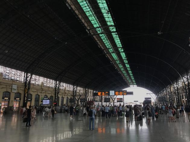Cubierta de la Estación del Norte de Valencia