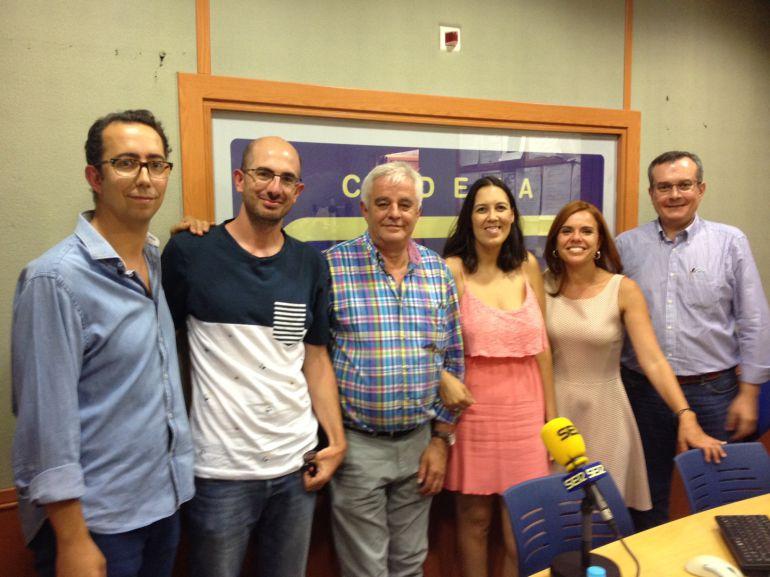 José María Martín, Alfonso Alba, José Luis Rodríguez, Anabel Calero, Irina Marzo y Jesús Cabrera.