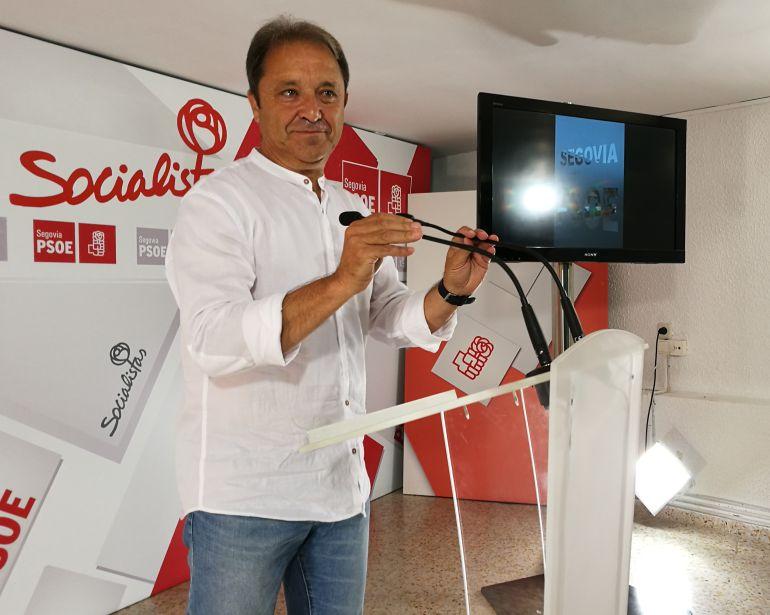 El diputado Juan Luis Gordo durante el balance de la legistalura y las nuevas propuestas para el próximo curso parlamentario