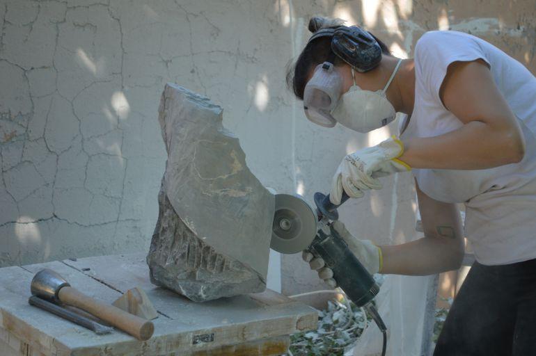 Escultura en el programa de becas de Ayllón