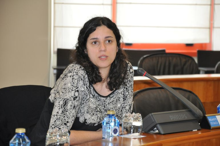 Noa Presas en una comisión parlamentaria