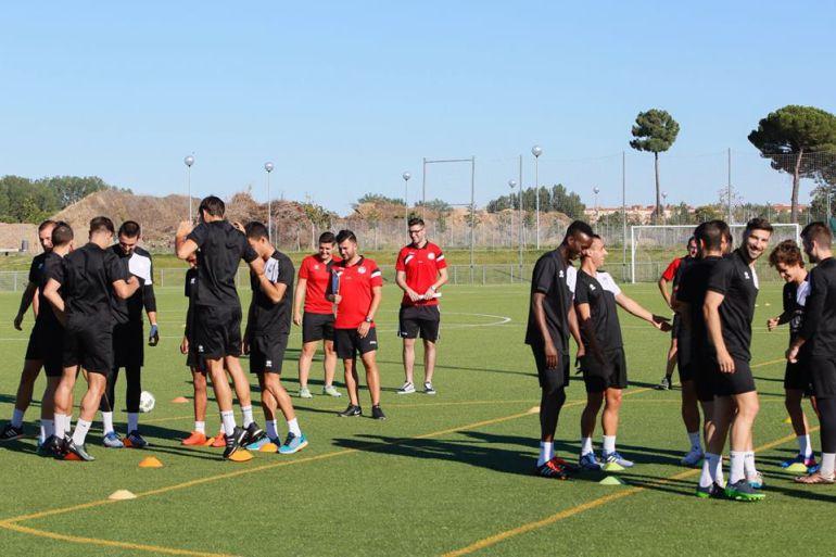 Foto del club. Uno de los entrenamientos de esta pretemporada, en la imagen.