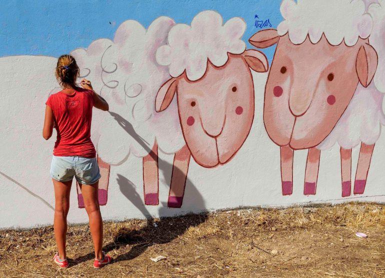 Mural pintado en Mambrilla de Castrejón