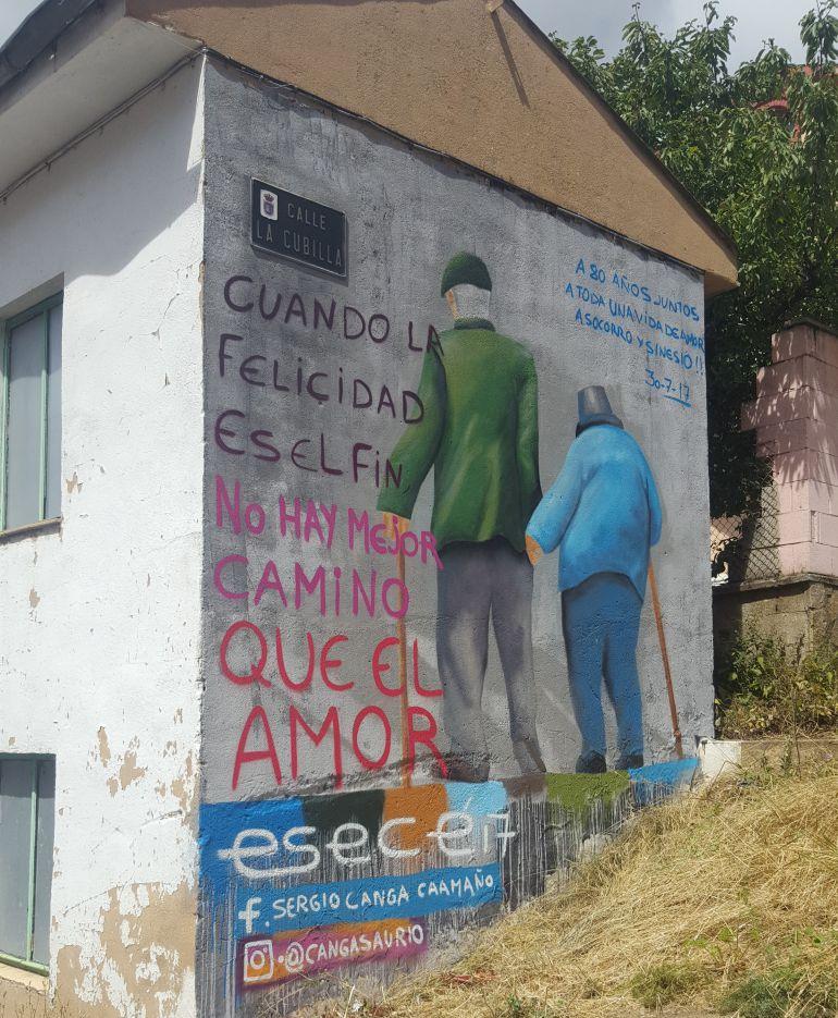 Una historia llena de ternura en las paredes de Ciñera