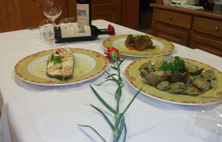 Varios platos del Restaurante Suso de Castro Ribeiras de Lea