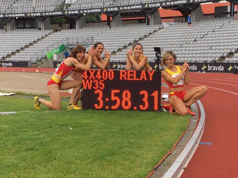Carolina García, medalla de oro en el relevo 4 x 400