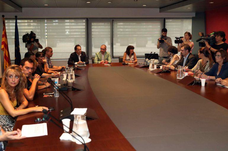 Reunió al Departament de Treball de la Generalitat