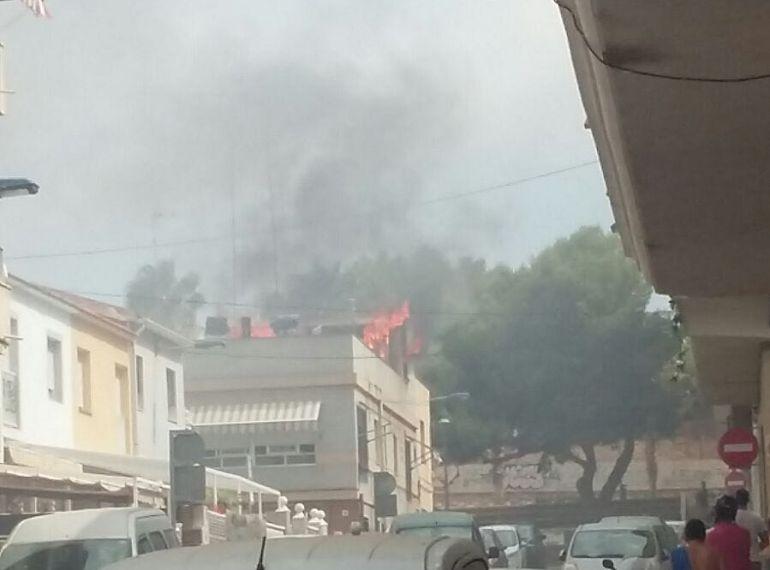 Incendio en Santa Pola