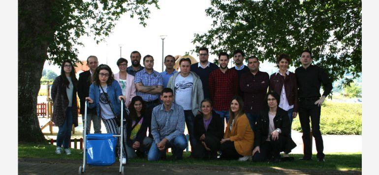 Integrantes de la Lanzadera de Empleo lucense