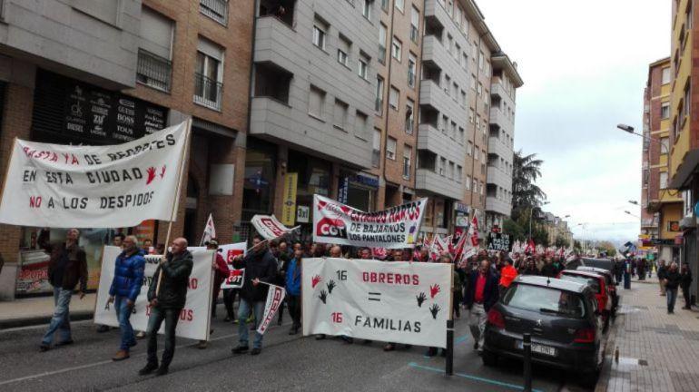 Manifestación de trabajadores de FCC en 2016