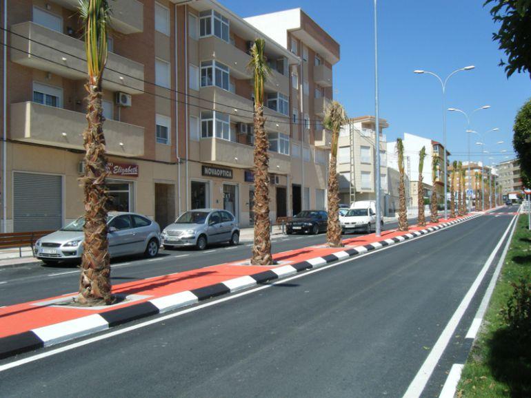 Avenida de Sax donde se produjeron los hechos