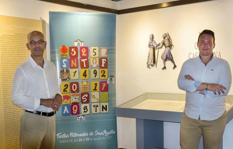 Presentación de las Fiestas de Santa Fe 2017 por el alcalde y el concejal de Fiestas