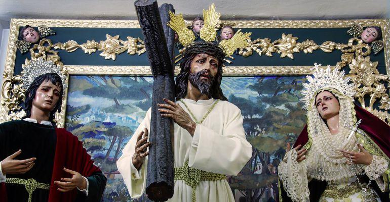 Imágenes titulares del grupo parroquial del Gran Poder en la capital jiennense