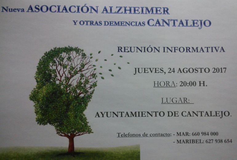 Cartel anunciador de la reunión en Cantalejo