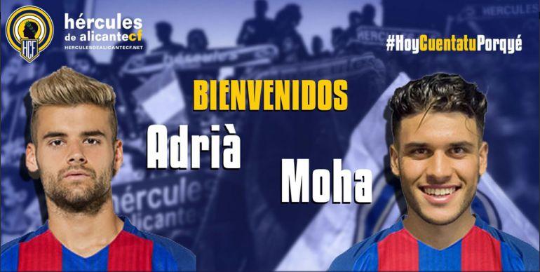 Adrià Vilanova y Moha, dos nuevas incorporaciones para el conjunto blanquiazul