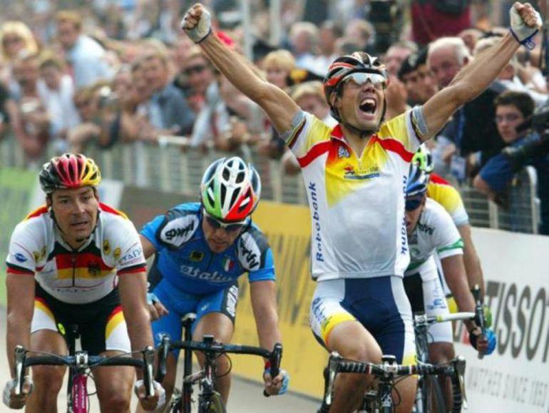 Óscar Freire logró en Verona (1999) su primer oro mundialista